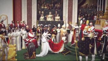 """""""DAVID, Le Couronnement de l'empereur et de l'impératrice"""" par Christine de Langle"""
