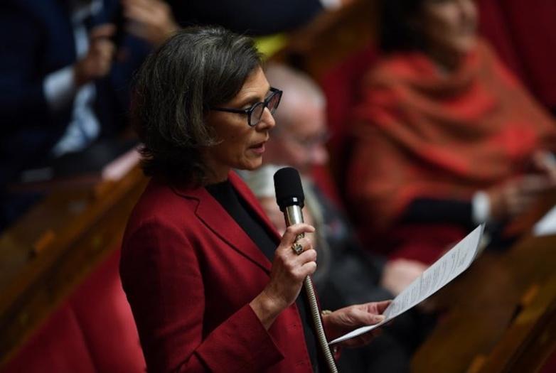 La députée Florence Provendier (LREM), à l'Assemblée nationale, le 27 novembre 2018. Christophe Archambault/AFP